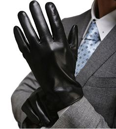 Best Luxury Touchscreen Italian Nappa Genuine Leather Gloves for men's Cold Weather Gloves - Black - - Men's Accessories, Gloves & Mittens, Cold Weather Gloves # # Lambskin Leather, Leather Gloves, Leather Men, Oversized Fashion, Cold Weather Gloves, Winter Gloves, Herren Winter, Dress Gloves, Man Fashion
