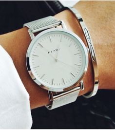 KLARF | stainless steel mesh band watch