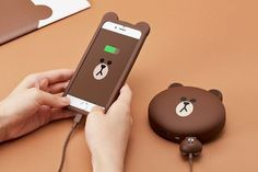 Cute Cartoon Little Bear Portable Charger Power Supply 8800 MA Universal Travel For IPhone Xiaomi Mobile Phone Powerbank Iphone Ladegerät, Iphone Charger, Coque Iphone, Iphone Cases, Cute Portable Charger, Nouveaux Gadgets, Accessoires Iphone, Line Friends, Bare Bears