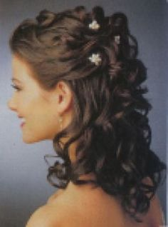 partial updo hairstyles with bangs | Partial Updo Hairstyles Curly Hair Flowers - Free Download Partial ...