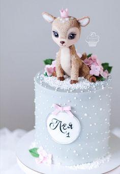 Baby Girl Birthday Cake, Baby Girl Cakes, Cute Birthday Cakes, Pretty Cakes, Cute Cakes, Beautiful Cakes, Cupcake Cakes, Fondant Cakes, Cake Fondant