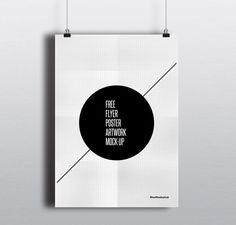 Folleto gratuito / poster Mock-up