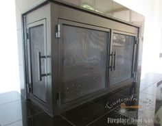L Shaped Doors Custom Fireplace Doors In California Arizona Fireplace Door Guy Custom
