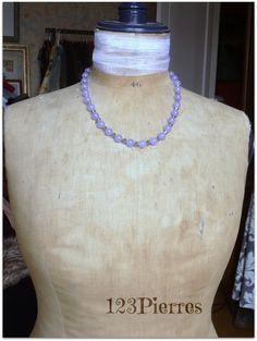 Collier jade mauve et cristal irisé - Bijoux 123Pierres : Collier par jade-et-cristal-de-marie