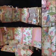 G45 2014 May Botanical tea paper bag album for my dear friend by Carmana