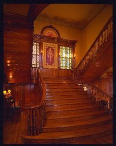 Grand staircase, Thistle Hill An American Castle, Fort Worth, Texas in Castles Forum