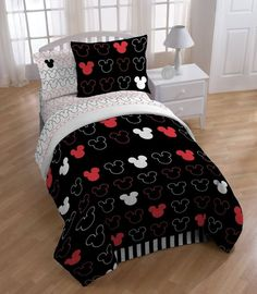 Disney Mickey Love Comforter with Sham Set, Twin #Disney