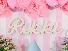 Backdrop Signage + Name Banner from a Pink Princess Baptism Party via Kara's Party Ideas | The Place for All Things Party! KarasPartyIdeas.com (7)