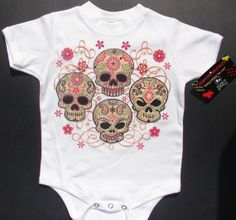 NWT white bodysuit toddler or kids tee of 4 by Punkymonkeykids, $7.99
