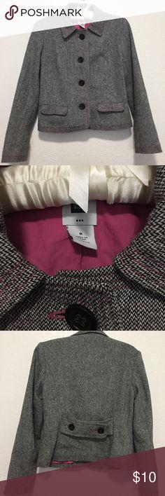 🍕3 for $20🍕💓Gap peacoat💕 Size 6 gray and pink peacoat! GAP Jackets & Coats