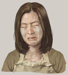 etude - crying woman / painter9 / 2008