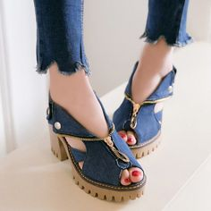 SHARE & Get it FREE | Denim Peep Toe SandalsFor Fashion Lovers only:80,000+ Items • New Arrivals Daily • Affordable Casual to Chic for Every Occasion Join Sammydress: Get YOUR $50 NOW!