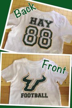 Personalized applique USF Bulls shirt