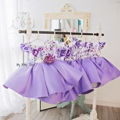 Leila Dress in Purple In stock and ready to ship! Overnight delivery available ✈️ Order on our website ittybittytoes.com