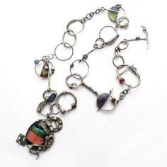 Kandinsky srebrny naszyjnik od Rękami Stworzone