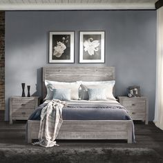 Grain Wood Furniture Montauk Queen Solid Wood Panel Bed | Overstock.com Shopping - The Best Deals on Beds
