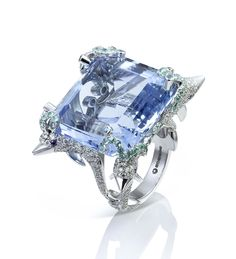 If this was half it's size I'd love this for a wedding ring. is that tacky???    Dolphin Ring - Boodles