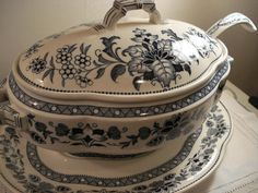 Antique 19th Century Wedgwood Mandarin Soup Tureen - 4 pieces Rare. $325.00, via Etsy.