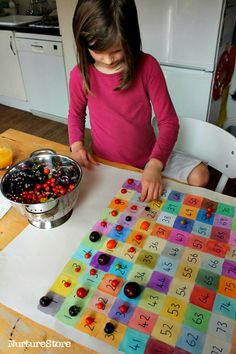 Hundred square activities, learn to count to 100, hands- on place value activity