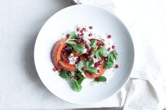 Vegan Red Kuri Squash with Sumac, Greens and Pomegranate The Little Plantation Blog