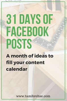 One month of Facebook post ideas to plan amazing, engaging content for your…