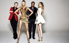 BINTM: Whitney Port, Julien Macdonald, Elle Macpherson and Tyson Beckford in Britain and Ireland's Next Top Model Cycle 8 Promo Image Express Fashion, Cute Short Haircuts, Elle Macpherson, Standing Poses, Hair Styles 2014, Fashion Models, Fashion Trends, Trending Fashion, Fashion News