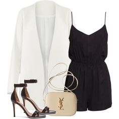 Untitled #2057 by dceee on Polyvore featuring H&M, Givenchy and Yves Saint Laurent
