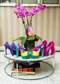 Only a few of June Ambrose's shoes.