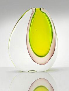 Antonio Da Ros's submerged glass - Italian Ways Art Of Glass, Glass Vase, Glass Door, Wine Glass, Perfume, Glass Art Pictures, Vintage Vases, Vintage Art, Stained Glass Windows