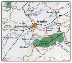 Tn national parks map of great smoky mountains national for Plenty of fish knoxville tn