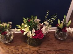 Little lillies, roses, orchids, wax flowers, mini calla