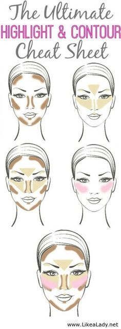A guide that every lady can use - contouring! Take your makeup to the next level with this tutorial. Makeup tutorials you can find here: http://crazymakeupideas.com/tips-for-summer-makeup/