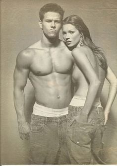 Marky Mark and Kate Moss. @thecoveteur