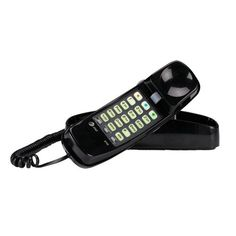 AT&T 210M Trimline Corded Phone, Black, 1 Handset