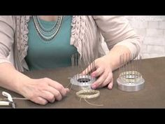 Artbeads Mini Tutorial - Bangle Weaver Tool from Beadalon with Cheri Carlson - YouTube