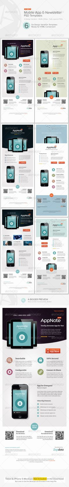 Mobile App E-Newsletter PSD Templates are design templates created for sale on Graphic River. More info of the template and how to get the template sourcefiles can be found on this page, http://graphicriver.net/item/mobile-app-enewsletter-psd-templates/4915002?r=kinzi21