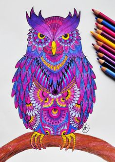 An owl coloring page I made for my fb site http://facebook.com/miedzykreskami