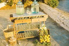 Rustic Beach Wedding   Vintage Lemonade Bar
