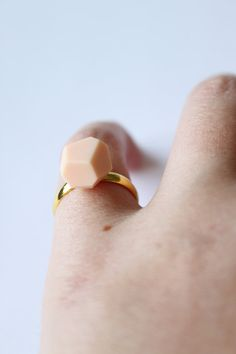 pink geometric ring by reintroducedShop on Etsy, €12.50