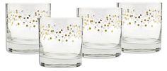 S/4 Pinnate Old-Fashion Glasses, 11 Oz
