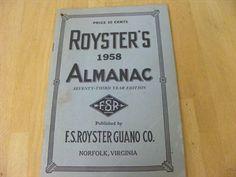 Content/listingImages/20130919/70734d16-b289-4136-82db-bb1cfe570383_fullsize.jpg Vintage almanac Please visit www.bidsbyzip.com to bid and win this item! Bidding starts at .99!!!