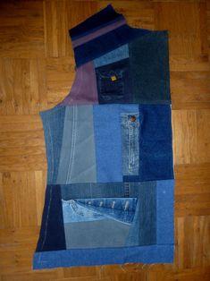 Jeansrecycling, Teil 3: Wir nähen eine Weste » BERNINA Blog Vest, Pattern, Blog, Jean Jackets, Fashion, Fashion Styles, Sewing Patterns Free, Free Pattern, Old Jeans
