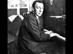 Sergei Rachmaninoff at the piano.
