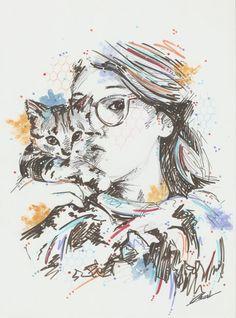 Crystal Rousset aka Keex drawing