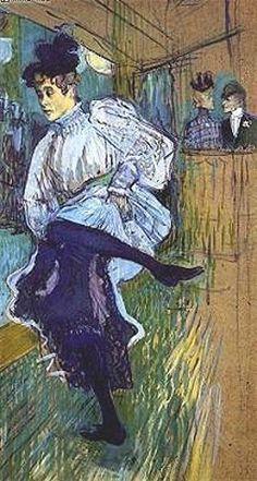 Henri de Toulouse Lautrec - Jane Avril dansant, 1892, Paris, Musée d'Orsay