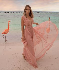 A-Line V-neck Long Cheap Pink Chiffon Prom Dresses with Pleats, – Sofit Bridal Bridesmaid Dresses, Prom Dresses, Formal Dresses, Wedding Dresses, Damas Rose, Beach Wedding Guests, Beach Wedding Outfit Guest, Mode Chic, Party Fashion