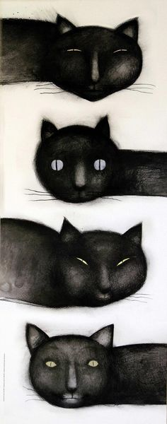 The winds are cats - ilustración de Ana Juan