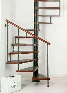 Resultado de imagem para spiral square loft stairs