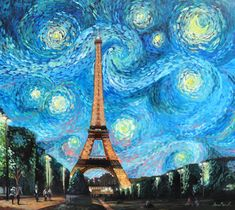 Starry Night in Paris by Maiwen.deviantart.com on @deviantART