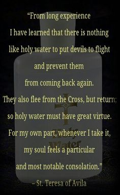 Holy water - powerful substance - provided there is faith with it.